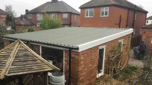 Pent-Garage-Asbestos-Roof-Replacement