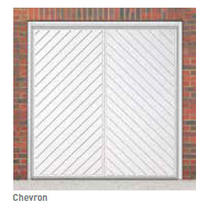 Chevron Canopy Garage Door