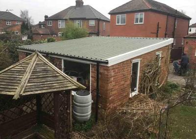 Double Pent Garage Roof Replacement