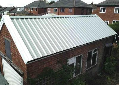 Garage Roof Replacement-Merlin Grey