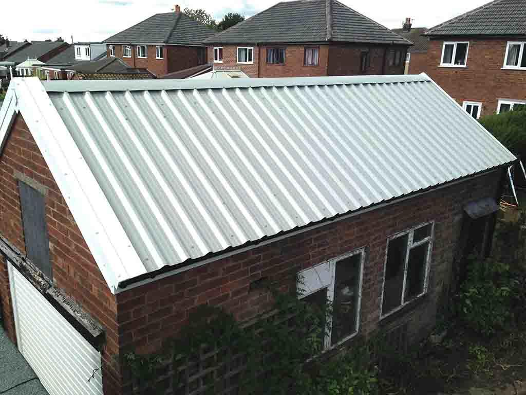 Rv Garage With Metal Roof 9826sw: Garage Roof Replacement