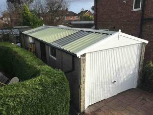Garage Roof Replacement with Translucent Panels