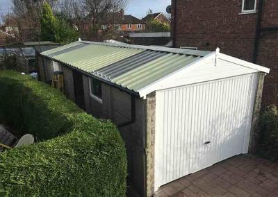 Garage Roof Replacement with Transparent Panels