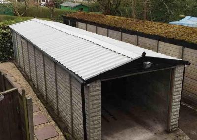 Asbestos Apex Garage Roof Replacement