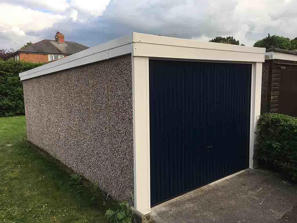 Midnight Blue Garage Door Replacement