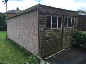 Pent-garage-Asbestos-roof