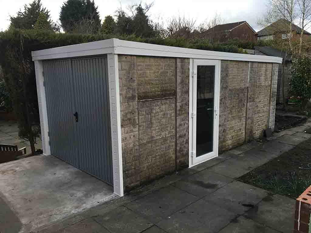 Garage Side Door with New Roof