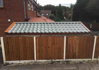 Tile Effect Garage Roof