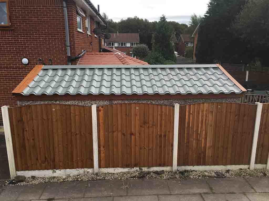 Tile Effect Corrugated Garage Roof