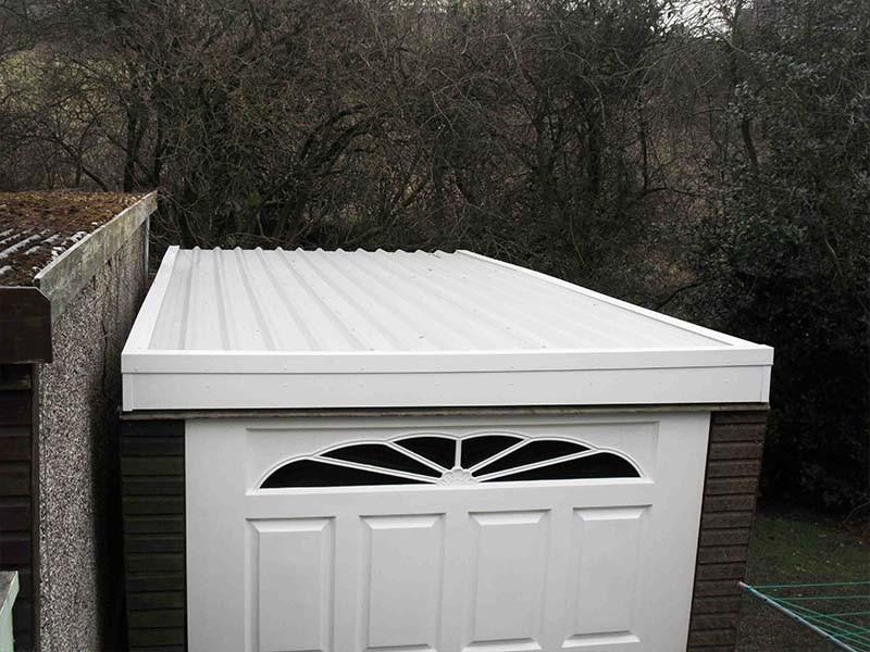 White Asbestos Garage Roof Replacement