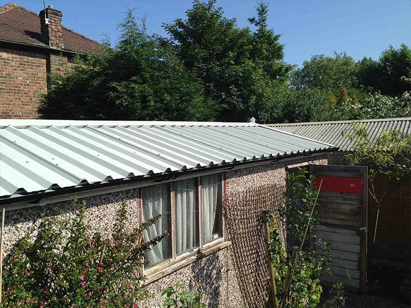 Goosewing Grey Apex Garage Roof Replacement