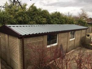 Concrete Garage with New Garage Roof
