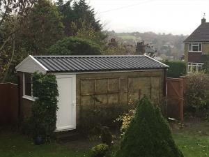 Garage-Revamp-Black-Garage-Roof