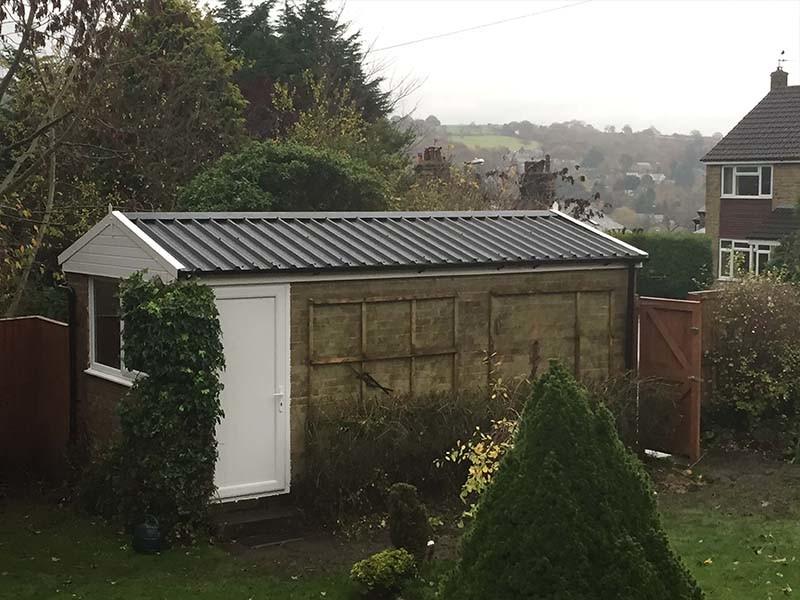 Apex Garage Roof & Side Door Replacement