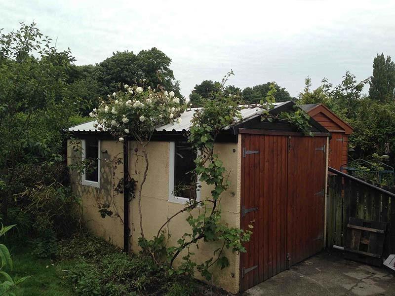 New Garage Roof & Wooden Garage Door