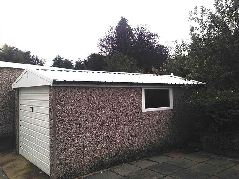 White Garage Roof & uPVC Window