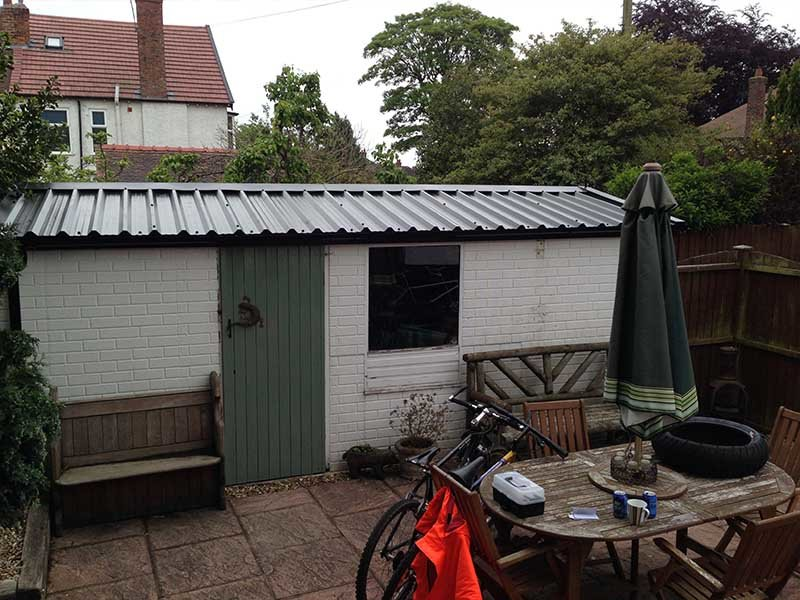 Brick Built Garage with New Roof