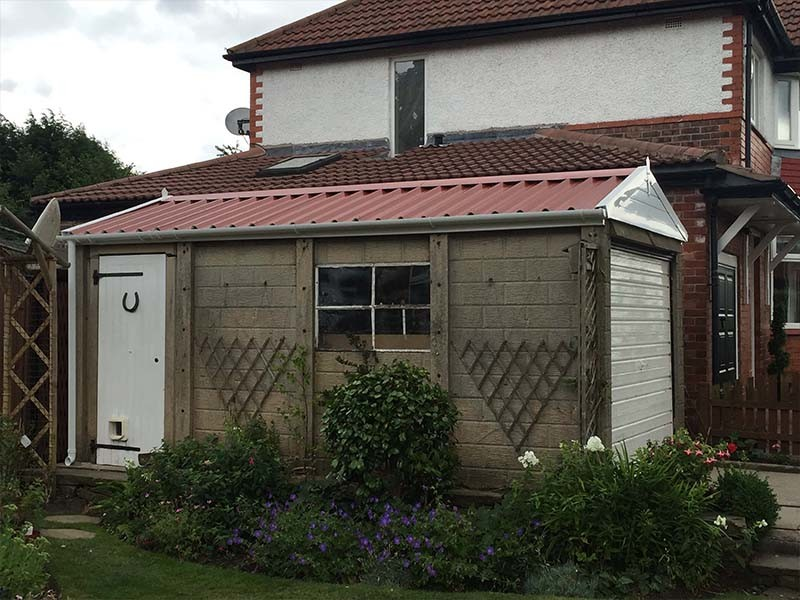 Concrete Sectional Garage with New Roof