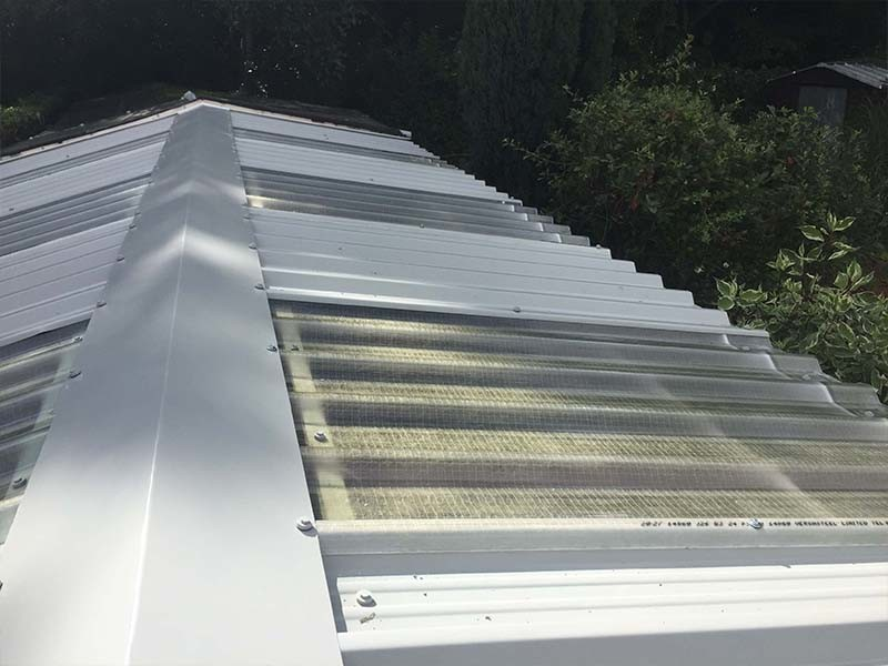Translucent Garage Roof Replacement