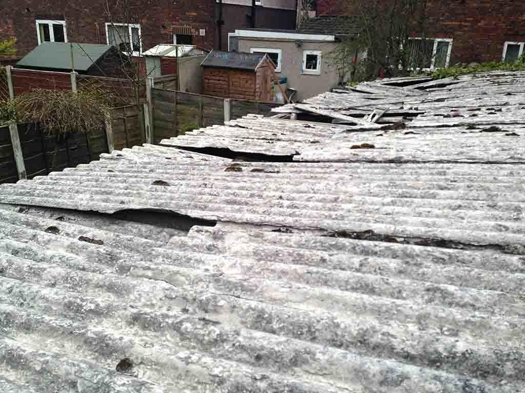 Asbestos Garage Roof Panels