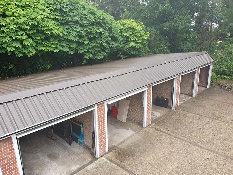 Bank of 5 Garages Refurbished