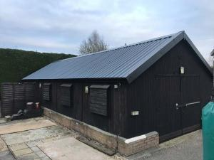 Large Anthracite Garage Roof