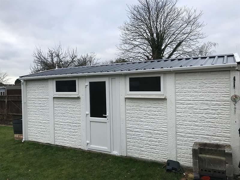 White Concrete Garage Refurbishment