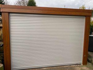 Roller Garage Door in Light Grey