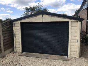 SWS Roller Garage Door in Black