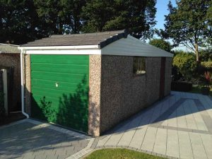 Single garage with Dual Pitch Tiled Garage Roof