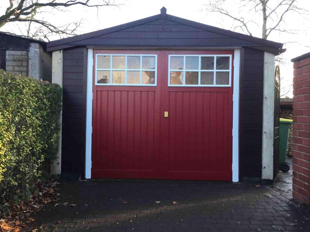 Garage Renovation with Brown uPVC Cladding