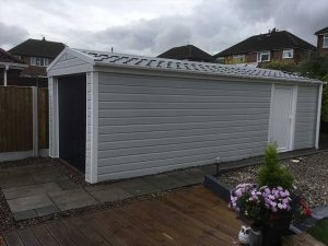 Overcladded Concrete Sectional Garage