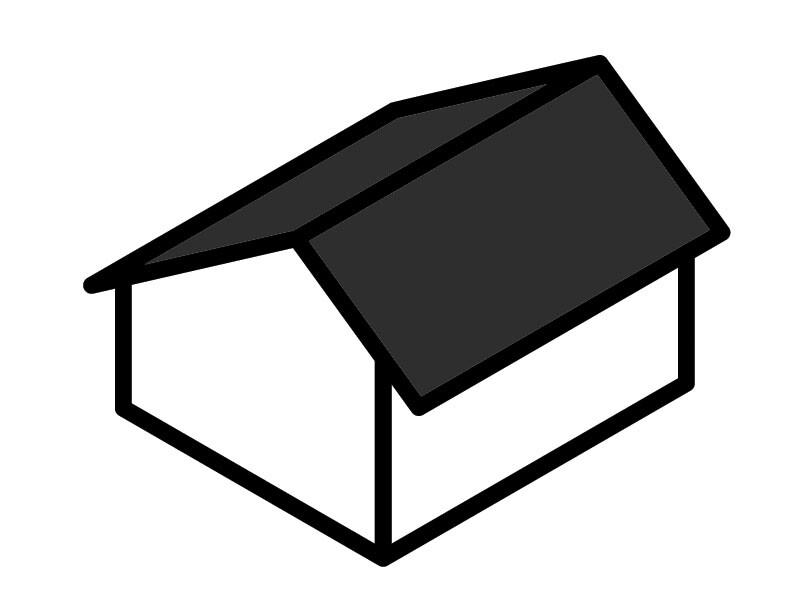 Garage Roof Type - Saltbox