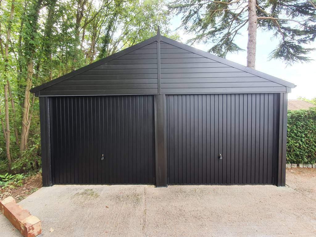 Double Garage Door Supply in Black