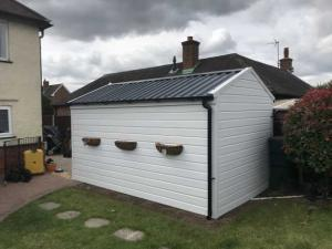 New Garage Roof and White uPVC Cladding Wrap