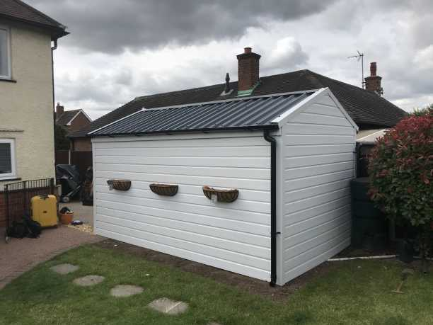 New Garage Roof and White uPVC Wrap