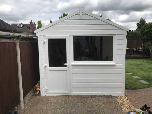 Garage Cladding with Side Door & Window
