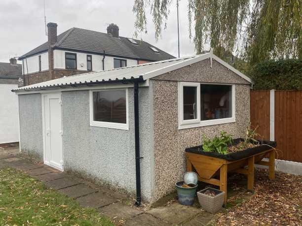 New Garage Roof with Window & Side Door