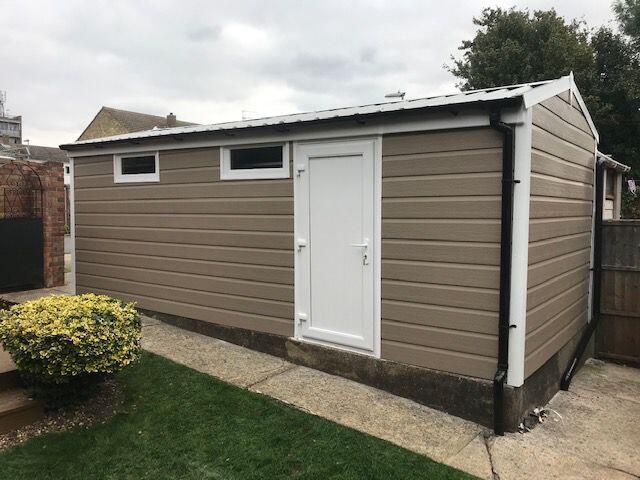 Garage Refurbishment with Argyl Brown Cladding